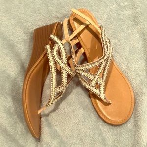 Fergalicious Sparkly Wedge Sandals